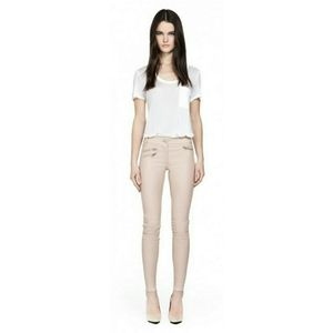 NWT Mackage Pink Leather Pants with Zip Detail
